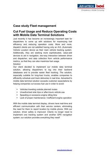 Case study Fleet management Cut Fuel Usage and Reduce - Dlog