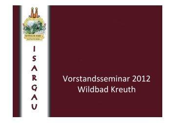 Vorstandsseminar 2012 Wildbad Kreuth
