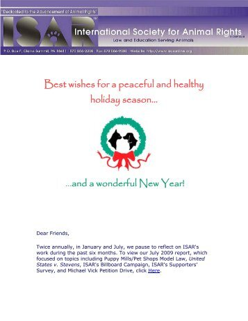 Best wishes for a peaceful and healthy holiday season... ...and a ...