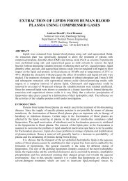 extraction of lipids from human blood plasma using ... - ISASF