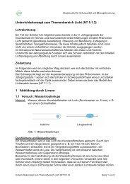 Unterrichtskonzept zum Themenbereich Licht (NT 5.1.2) 1 ...