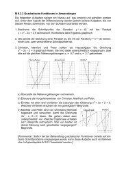 M 9.2.2 Quadratische Funktionen in Anwendungen Die folgenden ...