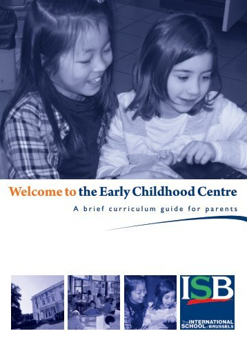 Early Childhood Centre Curriculum Guide - International School of ...