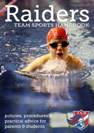 Athletics Handbook - International School of Brussels