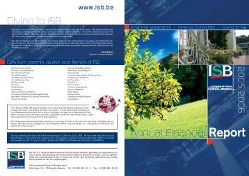 ISB annual report 1206 - International School of Brussels