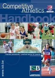 sport athletics hanbook 06 - International School of Brussels