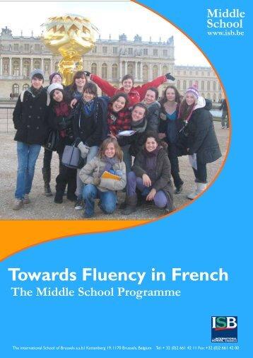Towards Fluency in French - International School of Brussels