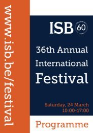 Sincere Thanks To Our Sponsors - International School of Brussels
