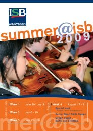I Week 3 - International School of Brussels