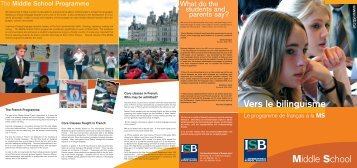 The French Programme - International School of Brussels