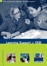 Learning Support - International School of Brussels