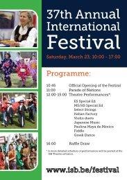 Festival - International School of Brussels