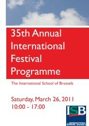 35th Annual International Festival Programme - International School ...