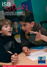The community newsletter of - International School of Brussels