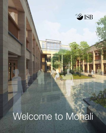 Welcome to Mohali - Indian School of Business