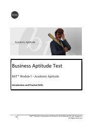 Download BAT I Practice Booklet - Indian School of Business