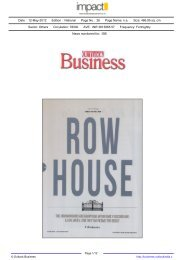 Row House (Cover Story Hiranandanis) (Page No.10)