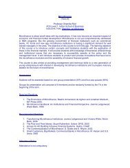 Microfinance - Indian School of Business