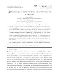 Optimal design of sales contracts under information asymmetry