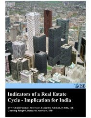 Indicators of a Real Estate Cycle - Implication for India