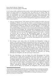 Tätigkeitsbericht 1999/2000 - Haus der Geschichte des Ruhrgebiets