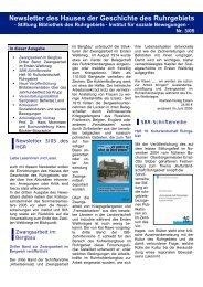 Newsletter des Hauses der Geschichte des Ruhrgebiets - Haus der ...