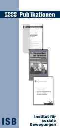 Publikationen 2008/2009 - Institut für soziale Bewegungen