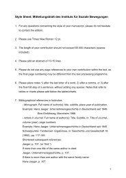 Style sheet: Mitteilungsblatt des Instituts für Soziale Bewegungen