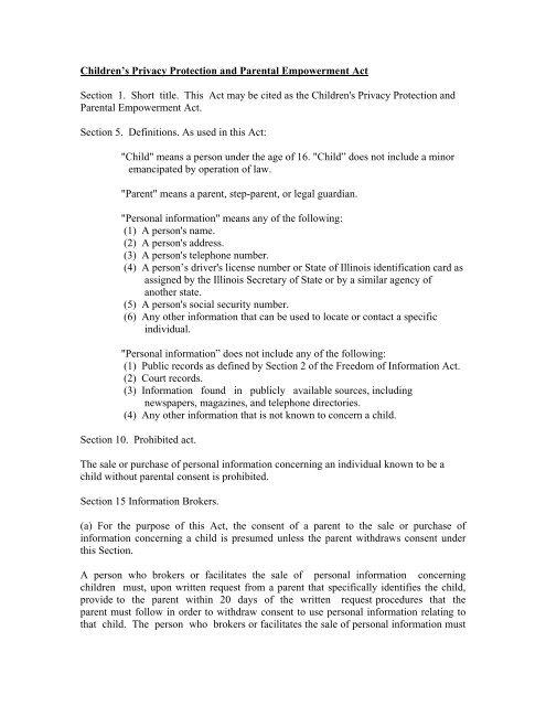 illinois minor consent laws