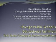 Chicago Public School's Educational Facilities Task Force Findings ...