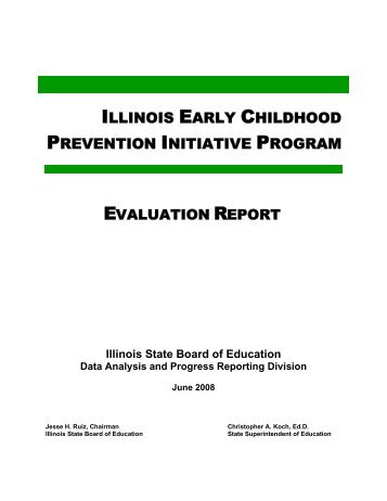 Early Childhood Prevention Initiative Program Evaluation Report