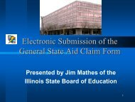 Electronic Submission of General State Aid Claim - Illinois State ...