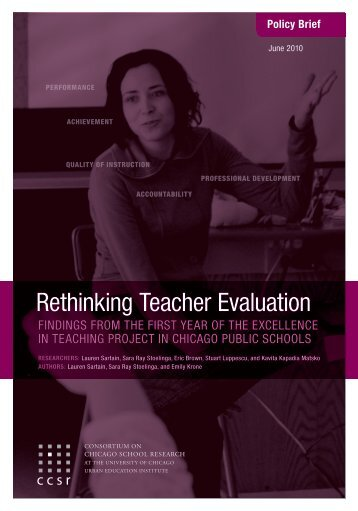 Rethinking Teacher Evaluation Policy Brief - Illinois State Board of ...
