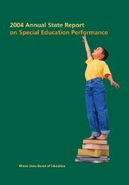 2004 Annual Report - Special Education - Illinois State Board of ...