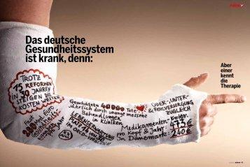 Das deutsche Gesundheitssystem ist krank, denn: Aber einer kennt ...