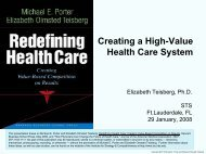 Creating a High-Value Health Care System - Institute for Strategy ...
