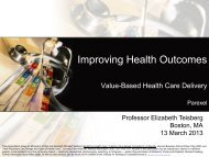 Improving Health Outcomes - Institute for Strategy and ...