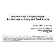 Innovation and Competitiveness: Implications for Policy and Saudi ...