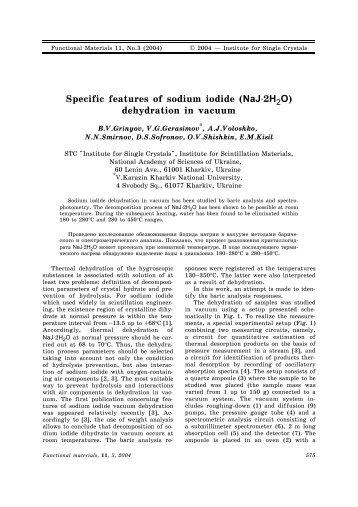 "Article (PDF-format) - State Scientific Institution ""Institute for Single ..."