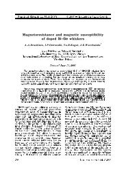 Magnetoresistance and magnetic susceptibility of doped 6L±* H ...