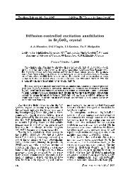 Diffusion controlled excitation annihilation in Sr