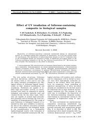 Effect of UV irradiation of fullerene containing composite in ...