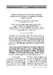 Optical parameters of the film naturally formed on the surface of ...