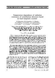 Temperature dependence of radiation resistance of scintillation ...