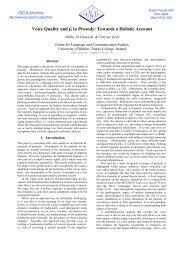 Full Paper - ISCA, International Speech Communication Association