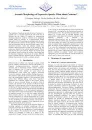 View - ISCA - International Speech Communication Association