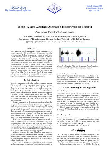 Vocale - A Semi-Automatic Annotation Tool for Prosodic ... - ISCA!