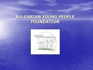 About Bulgarian Young People Foundation - ISCA