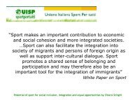 Potential of sport for social inclusion, integration and equal ... - ISCA