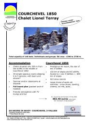 Ski offers in the French Alps (PDF, 0.88 MB) - ISCA